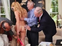 Old man creampie Frankie And The Gang Tag Team A Door To Door Saleswoman
