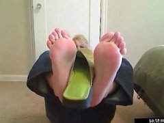 SMELL INSIDE HER STINKY GREEN SHOES & JACK OFF