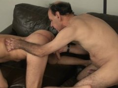 "67 year old Grandpa 8""Dick fucks younger Guy"