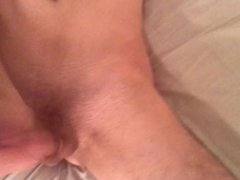 Toying my young asshole anal with dildo and cumshot