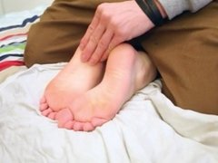 Tiny Teen Gabbi Gets Her Tiny Feet Tickled And 'Secret Cummed'
