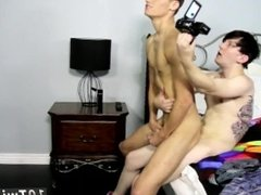 Old gay man boy cumming and young twink with small dick getting fucked