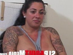 HOT LATINA BIG NATURAL TITS,BIGASS,WITH TATTOOS 1ST PORN BBC LOVES TO FUCK