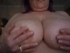 Boobies! Huge Natural Tits Bouncing Close Up