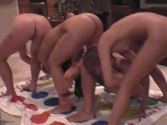 After Some Girls Leave Party Back at Condo Naked Twister Naked Partying