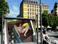 Public naked billboard masturbation by Mark Heffron