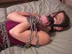 kylie adams bound and gagged in chain