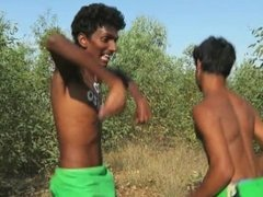 HOT INDIAN GIRLS GET GANGED IN THE JUNGLE