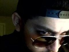Leather Jacket Webcam Model Special Request Flirt4Free Glasses Snapback