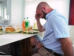 Alyssa Cole Gets Her Way With Daddy's Friend on Don't Fuck My Daughter