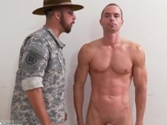 Naked straight military men jerking off and gay guy blows military guys