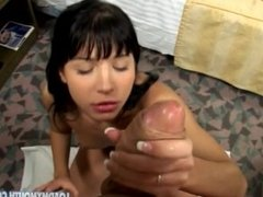 Early REBECA LINARES: POV Suck and Swallow - Load My Mouth