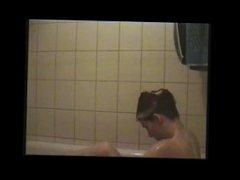 filming my daughter taking bath