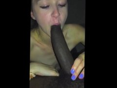 iPhone Teen Sucks Massive Black Cock