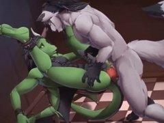 ROUGH DRAGON SEX (GAY FURRY YIFF) {FLASH GAME}