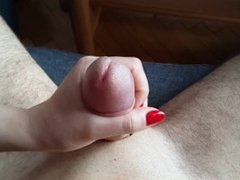 Gf Gives Quick Handjob With Very Happy Ending! POV!