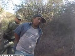 Border police and male cop strip Mexican border patrol agent has his own