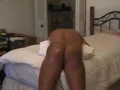 Old bbw granny paddles young guy - 420 strokes - punishment paddling