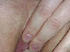 Fisting wife's pussy