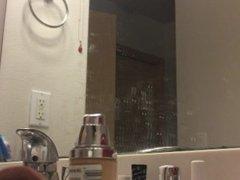 blonde teen voyeur spy cam in the bathroom