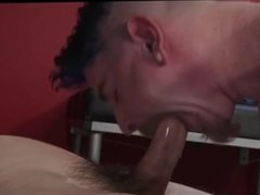 Punk on his knees sucking dick