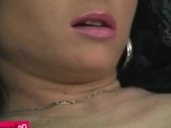 Slutty MILF dildoing her gaping pussy deep and hard