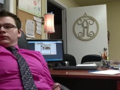 Jacking off in my old office