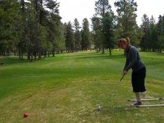 BK Woman play golf