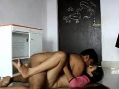 Indian Desi Teachers Having Sex in the Classroom Part-1