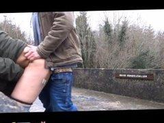 Couple Fuck On A Bridge