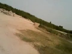 Pakistani Twink with Big Cock fucks friend bareback outdoors