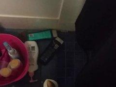 Wanking in the shower