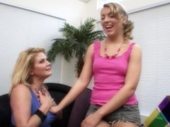 Big tit lesbian cougar Ginger Lynn gives fresh teen some sexual experience