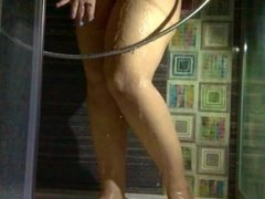 Pantyhose Pee and Shower SlowMo.
