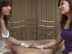 japanese nurse glvoe handjob 2