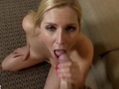 Sexy blonde step sister suck and fuck pov