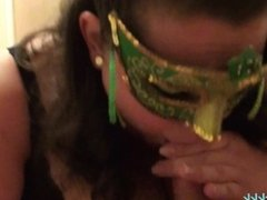BBW Wife Gives Blowjob and Cumshot - St Patty's Special