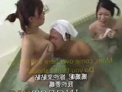 Family sex at japanese hot spa with cum in pussy and creampie Subbed
