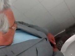 Teacher in bathroom