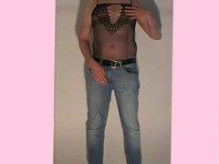 Man in lingerie, preview. Male men wear sexy ladies lingerie. Crossdresser