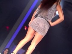 Big ass latina MILF walking shaking her big butt in this tight minidress !