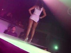 Voyeurs use hidden cam to spy under sexy dancin latina in tight minidress !