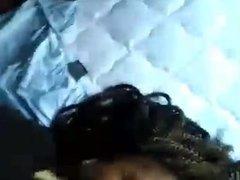 Ebony couple early morning blowjob
