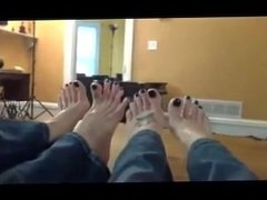 Mother and Daughter Sexy bare feet
