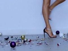 Fashion High Heels Sandals Crush Glass Balls