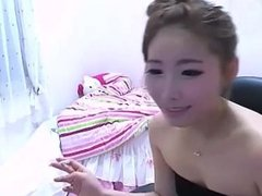 Cute asian smoking on webcam