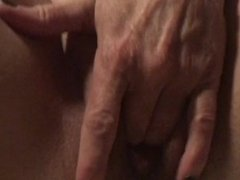 Masturbating milf with juicy pussy