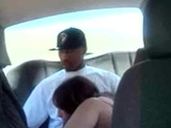 Nitobe's Cuckold Vault: Another black sucked off by white bitch in backseat