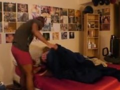 Couple fucking in his room