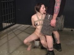 This Slut is Tied Up, Used Hard and Left With a Creamy Mouthful